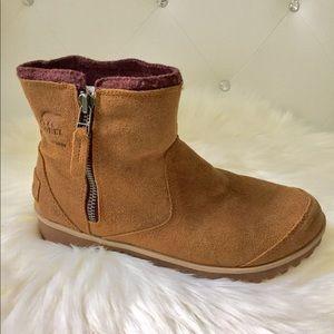 Sorel Meadow Genuine Suede Waterproof Ankle Boots